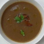Zupa ze świeżych grzybów leśnych